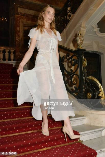 Ilona Smet attends the John Galliano show as part of the Paris Fashion Week Womenswear Fall/Winter 2017/2018 at Hotel de Marois on March 05 2017 in...