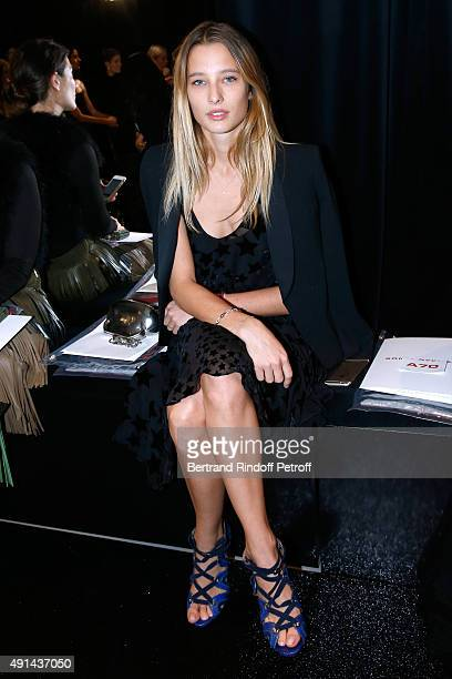 Ilona Smet attends the Sonia Rykiel show as part of the Paris Fashion Week Womenswear Spring/Summer 2016 on October 5 2015 in Paris France