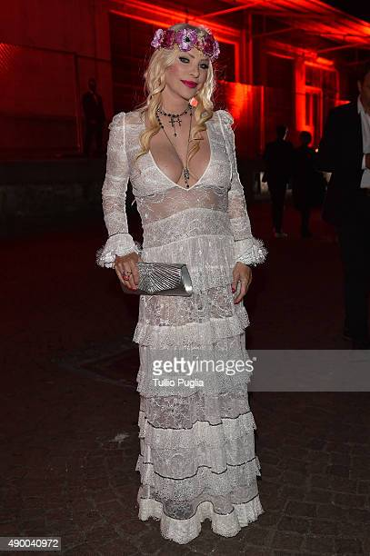 Ilona Staller attends the Givenchy #GRTmilano17 party during the Milan Fashion Week Spring/Summer 2016 on September 25 2015 in Milan Italy
