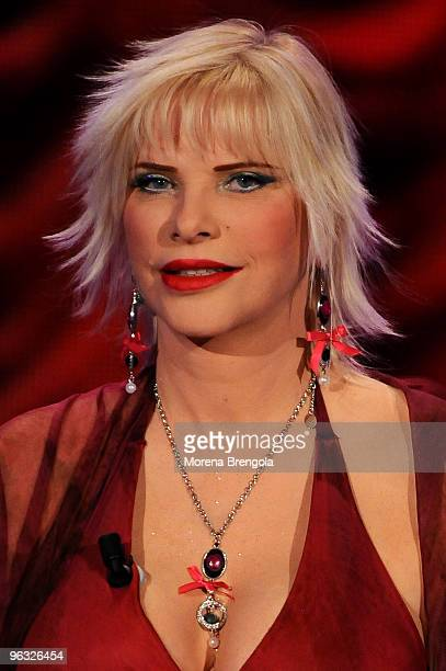 Ilona Staller during the 'Chiambretti night' Italian tv show on March 10 2009 in Milan Italy