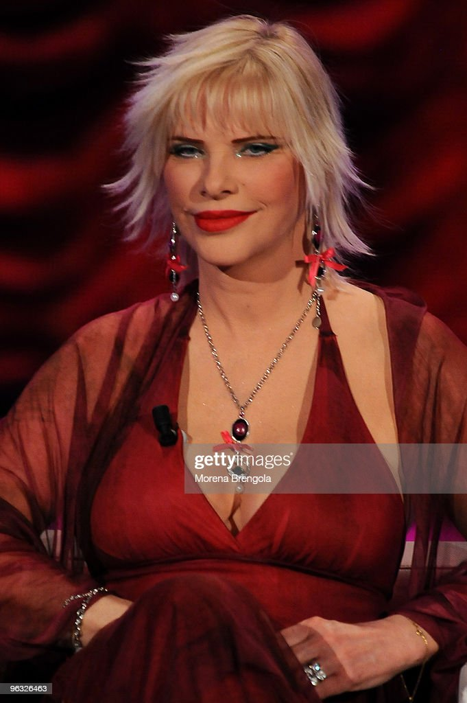 ilona staller during the 39 chiambretti night 39 italian tv show on march 10 2009 in milan italy. Black Bedroom Furniture Sets. Home Design Ideas