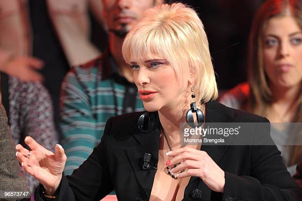 Ilona Staller during the Italian tv show 'Scalo 76' on December 7 2008 in Milan Italy