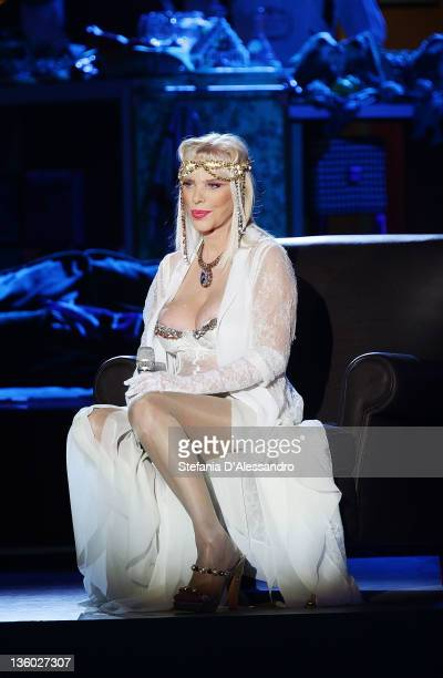 Ilona Staller known as Cicciolina attends 'Kalispera' Italian TV Show on December 16 2011 in Milan Italy