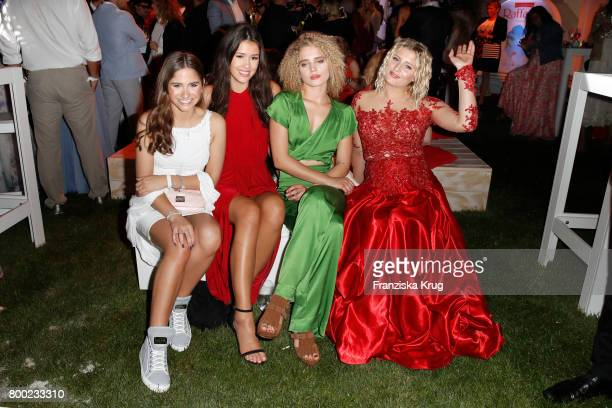 ILucia Strunz Isabella Maria Ahrens Chiara Moon and Luna Schweiger attend the Raffaello Summer Day 2017 to celebrate the 27th anniversary of...