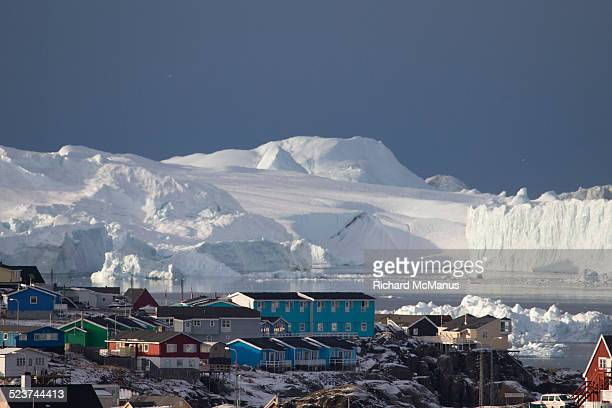 Ilulissat in front of Icefjord.