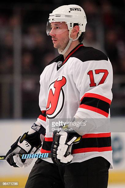 Ilya Kovalchuk of the New Jersey Devils waits for play to resume against the New York Rangers during their game on February 6 2010 at Madison Square...