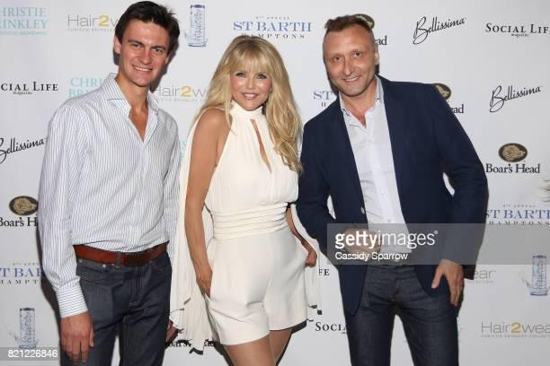 Ilya Novokshanov Christie Brinkley and Victor Novoselov attend the 6th Annual St Barth Hamptons Gala at Bridgehampton Historical Museum on July 22...
