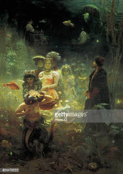 Ilya Repin Russian school Sadko in the Underwater kingdom Russian mytholoy hero who inspired an opera by RimskyKorsakov in 1896 Oil on canvas