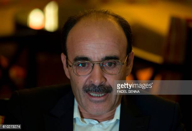 Ilyas el Omari Vice Secretary General of Morocco's Party of Authenticity and Modernity speaks during a interview on September 23 in Casablanca The...