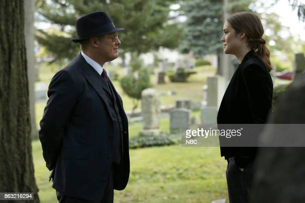 THE BLACKLIST 'Ilyas Surkov ' Episode 505 Pictured James Spader as Raymond 'Red' Reddington Megan Boone as Elizabeth Keen