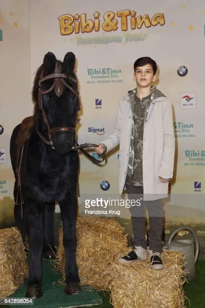 Ilyes Moutaoukkil attends the German premiere of the film 'Bibi Tina Tohuwabohu Total' at Kino in der Kulturbrauerei on February 19 2017 in Berlin...