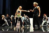 Im Saarländischen Staatstheater probt Sandy Mölling für das NimsgernMusical 'Paradise of Pain'Hier Mölling als 'Angelina' zusammen mit Eric Minsk der...