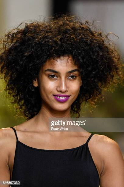Imaan Hammam walks the runway during the HM Studio show as part of the Paris Fashion Week on March 1 2017 in Paris France