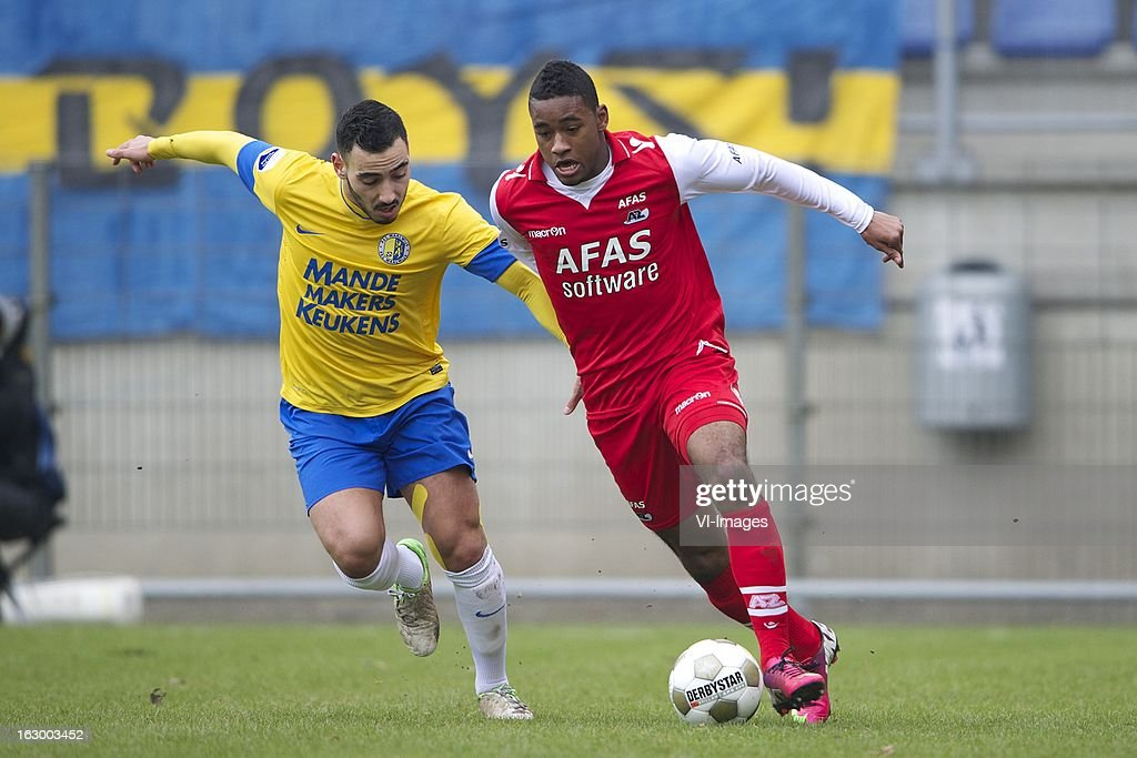 Imad Najah of RKC Waalwijk, Giliano Wijnaldum of AZ during the Dutch Eredivisie match between RKC Waalwijk and AZ Alkmaar at the Mandemakers Stadiumon march 03, 2013 in Waalwijk, The Netherlands