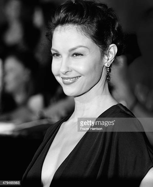 Image Converted to Black and White from Colour Actress Ashley Judd arrives at the premiere Of Summit Entertainment's 'Divergent' at Regency Bruin...