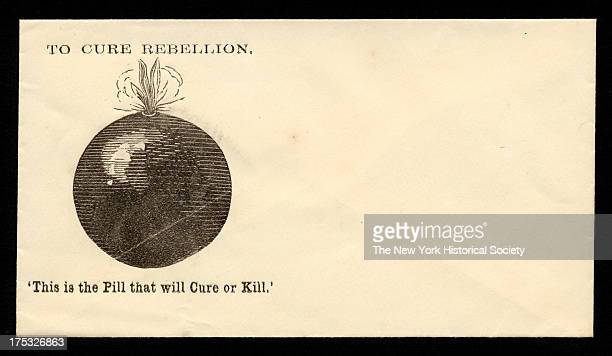 Image depicts a bomb with a lit fuse Text reads 'To Cure Rebellion This is the Pill that will Cure or Kill'