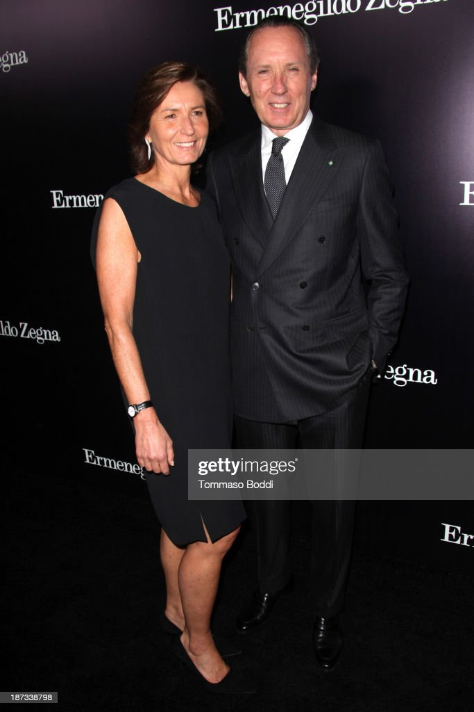 Image Director of Ermenegildo Zegna Group <a gi-track='captionPersonalityLinkClicked' href=/galleries/search?phrase=Anna+Zegna&family=editorial&specificpeople=3053409 ng-click='$event.stopPropagation()'>Anna Zegna</a> (L) and CEO of Ermenegildo Zegna Group Gildo Zegna attends the Ermenegildo Zegna boutique Rodeo Drive grand opening held at Ermenegildo Zegna Boutique on November 7, 2013 in Beverly Hills, California.