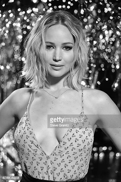 Image has been converted to black and white Actress Jennifer Lawrence at the Photo Call For Columbia Pictures' 'Passengers' at Four Seasons Hotel Los...