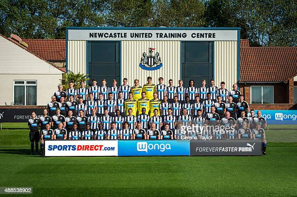 image has been digitally manipulated Newcastle team pose for the annual team photo BACK ROW Neil Stoker Dan Ward Liam Smith Jamie Cobain Liam Gibson...