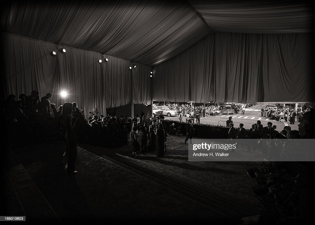 image has been digitally processed and converted to black and white] A general view of atmosphere at the Costume Institute Gala for the 'PUNK: Chaos to Couture' exhibition at the Metropolitan Museum of Art on May 6, 2013 in New York City.