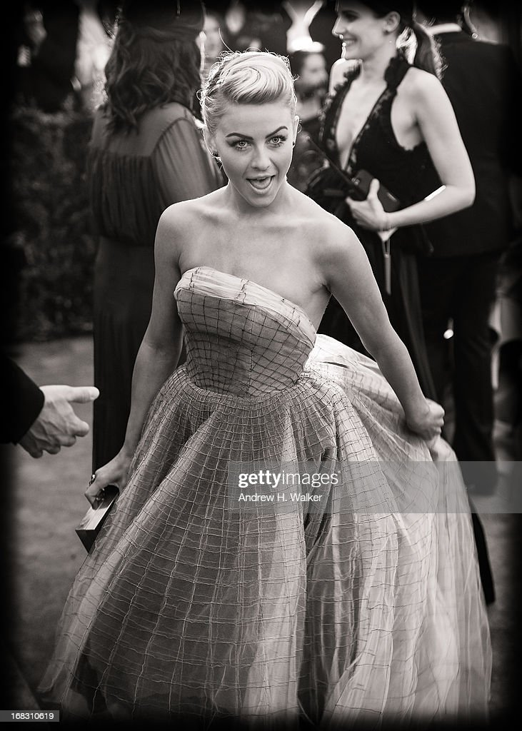 image has been digitally processed and converted to black and white] Julianne Hough attends the Costume Institute Gala for the 'PUNK: Chaos to Couture' exhibition at the Metropolitan Museum of Art on May 6, 2013 in New York City.