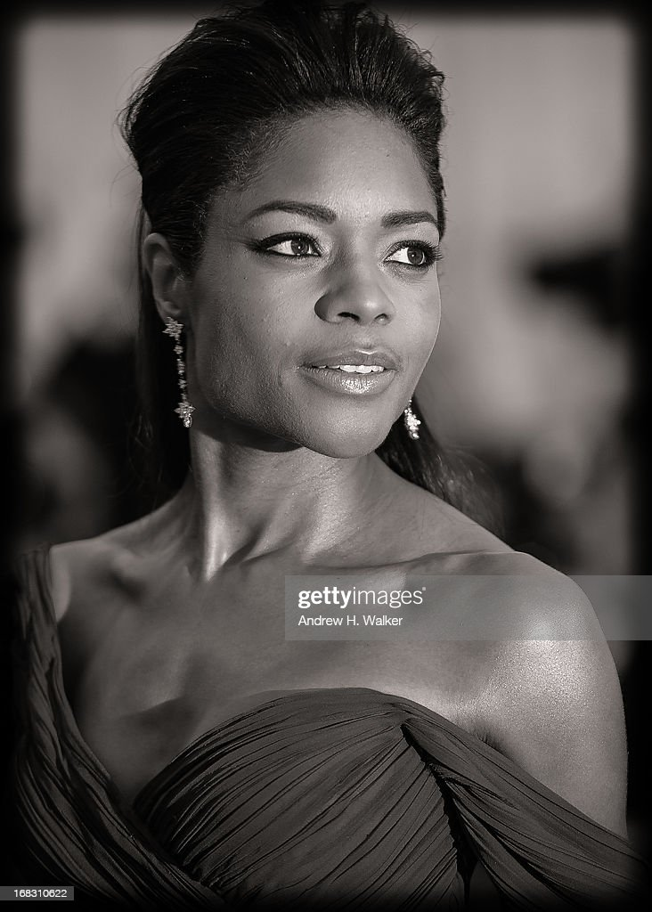 image has been digitally processed and converted to black and white] Naomie Harris attends the Costume Institute Gala for the 'PUNK: Chaos to Couture' exhibition at the Metropolitan Museum of Art on May 6, 2013 in New York City.