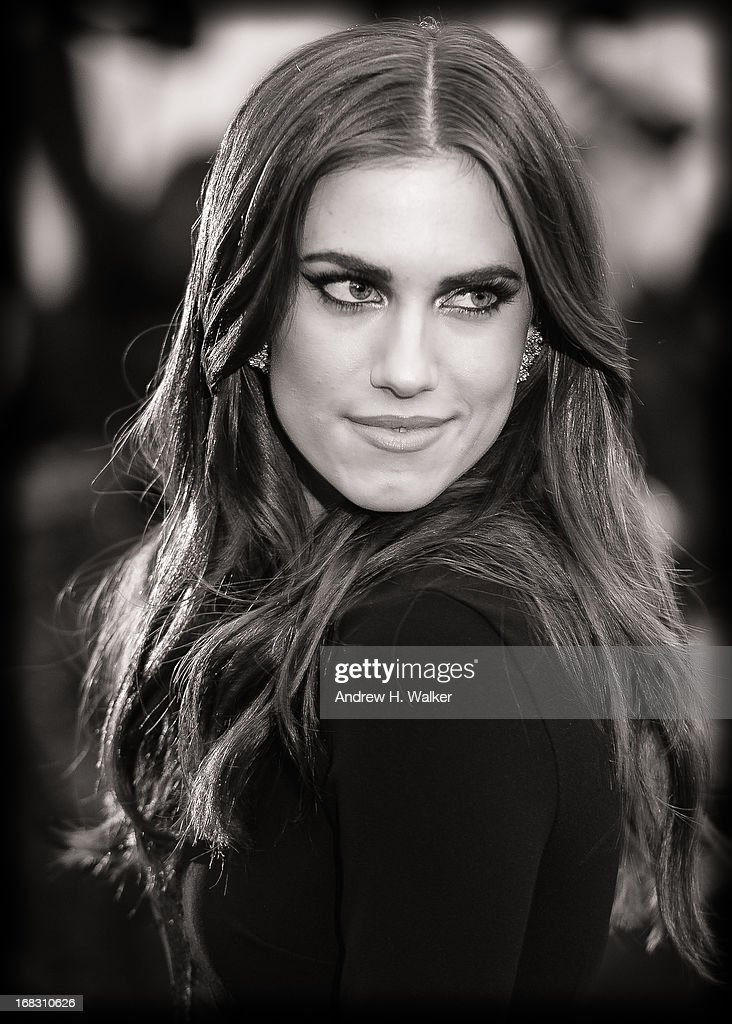 image has been digitally processed and converted to black and white] Allison Williams attends the Costume Institute Gala for the 'PUNK: Chaos to Couture' exhibition at the Metropolitan Museum of Art on May 6, 2013 in New York City.