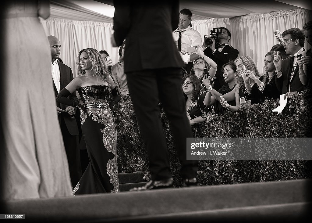 image has been digitally processed and converted to black and white] Beyonce attends the Costume Institute Gala for the 'PUNK: Chaos to Couture' exhibition at the Metropolitan Museum of Art on May 6, 2013 in New York City.