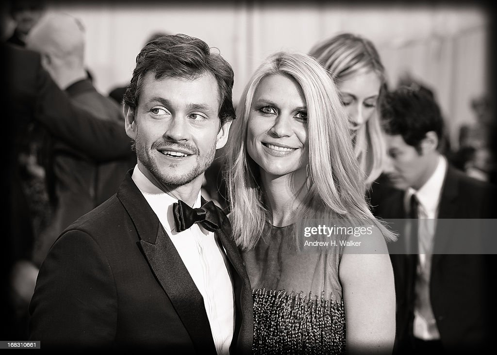 image has been digitally processed and converted to black and white] Hugh Dancy and Claire Danes attend the Costume Institute Gala for the 'PUNK: Chaos to Couture' exhibition at the Metropolitan Museum of Art on May 6, 2013 in New York City.