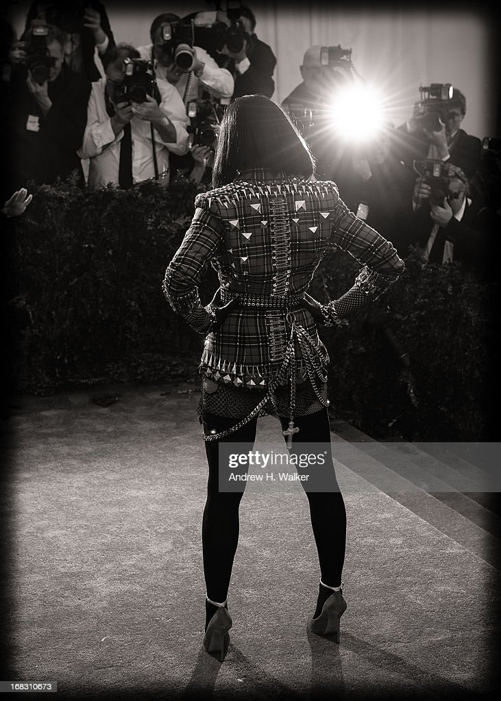 image has been digitally processed and converted to black and white] Madonna attends the Costume Institute Gala for the 'PUNK: Chaos to Couture' exhibition at the Metropolitan Museum of Art on May 6, 2013 in New York City.