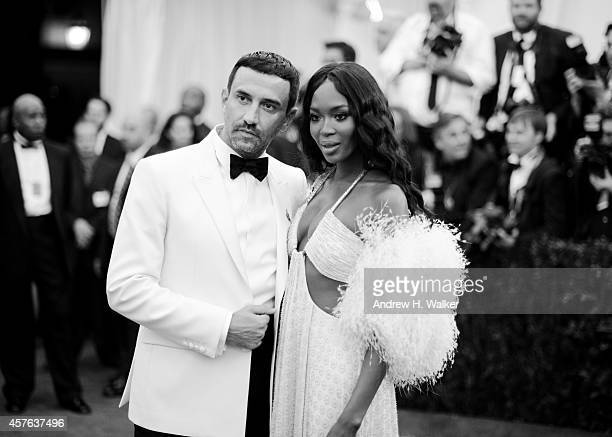 Image has been digitally processed] Riccardo Tisci and Naomi Campbell attend the 'Charles James Beyond Fashion' Costume Institute Gala at the...