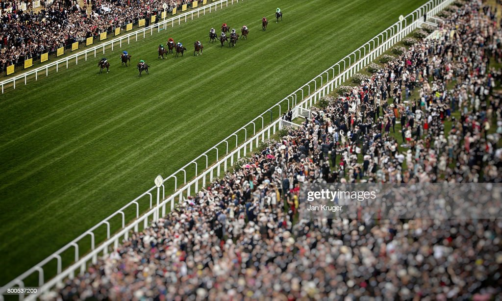 Image has been processed using digital filters) September ridden by Ryan Moore(L) wins the Chesham Stakes on day 5 of Royal Ascot at Ascot Racecourse on June 24, 2017 in Ascot, England.
