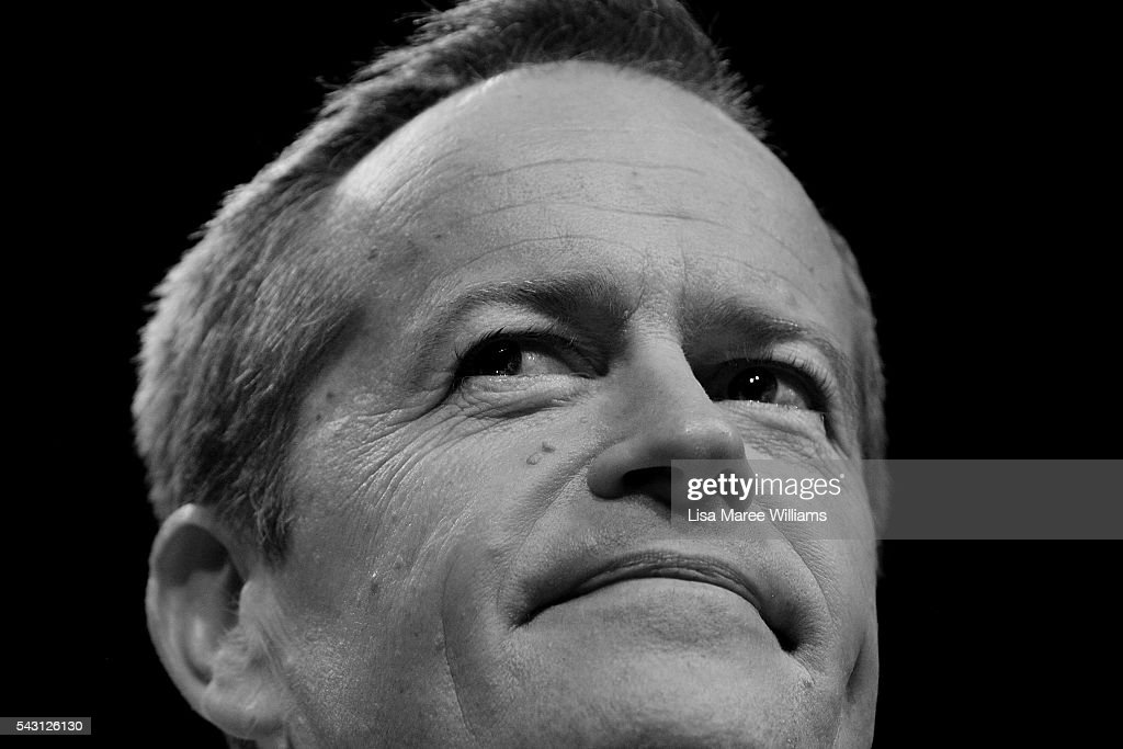 Image has been shot in black and white, no colour version available.) Leader of the Opposition, Australian Labor Party <a gi-track='captionPersonalityLinkClicked' href=/galleries/search?phrase=Bill+Shorten&family=editorial&specificpeople=606712 ng-click='$event.stopPropagation()'>Bill Shorten</a> addresses the audience during the Queensland Labor Campaign Launch at the Brisbane Convention and Exhibition Centre on June 26, 2016 in Brisbane, Australia. <a gi-track='captionPersonalityLinkClicked' href=/galleries/search?phrase=Bill+Shorten&family=editorial&specificpeople=606712 ng-click='$event.stopPropagation()'>Bill Shorten</a> is campaigning heavily on Medicare, promising to make sure it isn't privatised if the Labor Party wins the Federal Election on July 2.