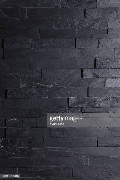 Image of a brick black wall wallpaper