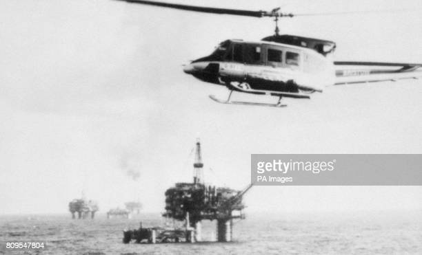 Image of a Bristow Bell 212 helicopter over the Brent oilfield The Brent field is an oil field located in the East Shetland Basin 186 kilometres...