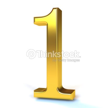 3d image of a golden number one stock photo thinkstock