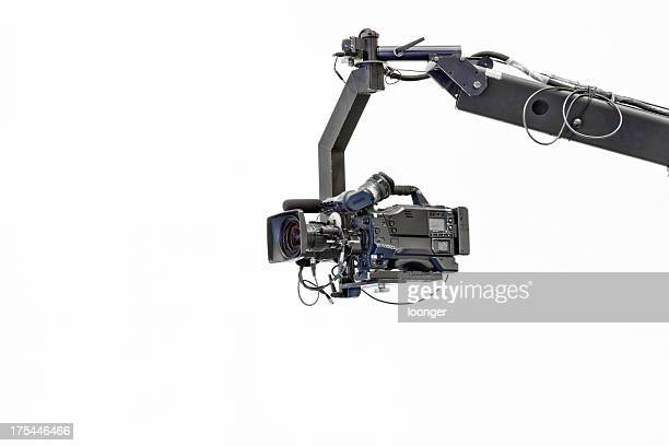 Image of a jib camera with white background