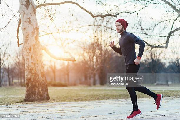image of a man running outdoors