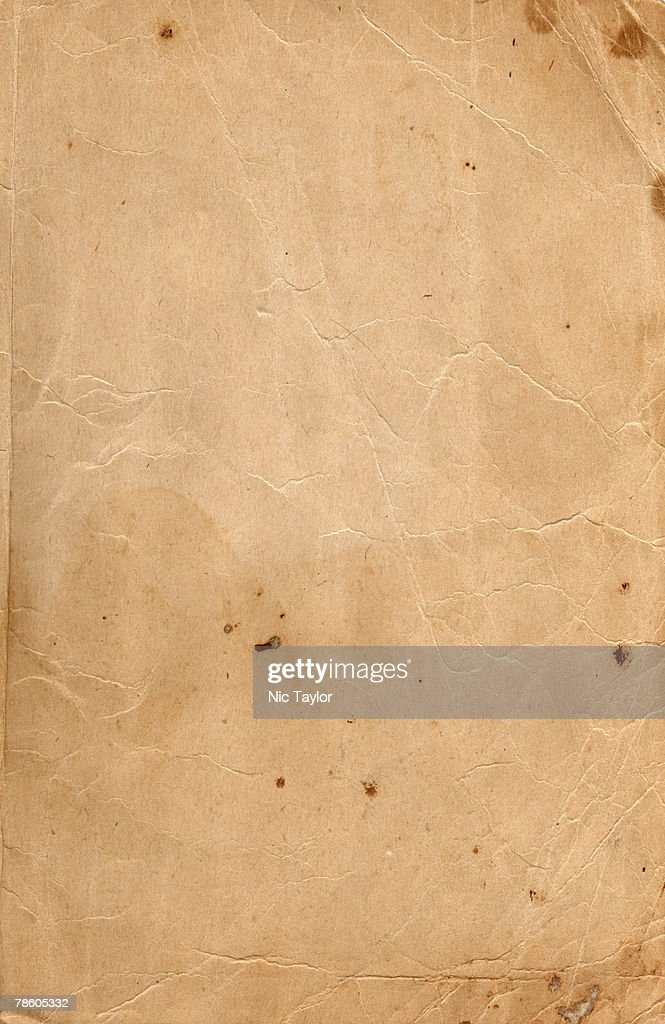Image of an old, grungy piece of paper with stains. : Stock Photo