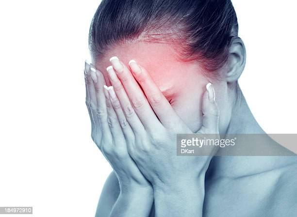 Image of attractive woman with migraine