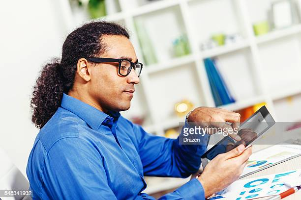 Image of black businessman in office