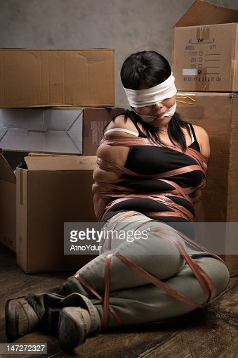blindfolded tied