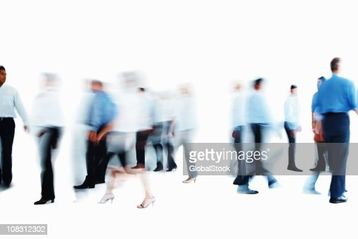 Image of business colleagues walking : Stock Photo