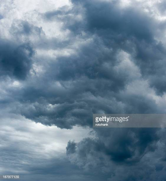Image of dark clouds on a windy day