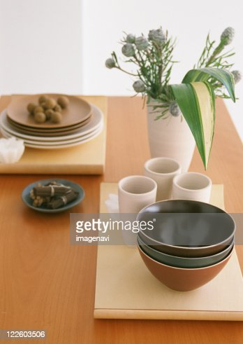 Image of dining table : Stock Photo