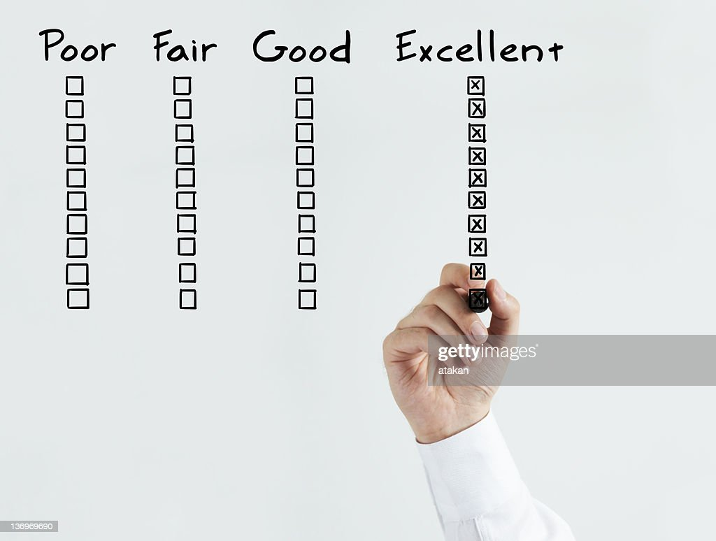 Image of employee having excellent performance review : Stock Photo