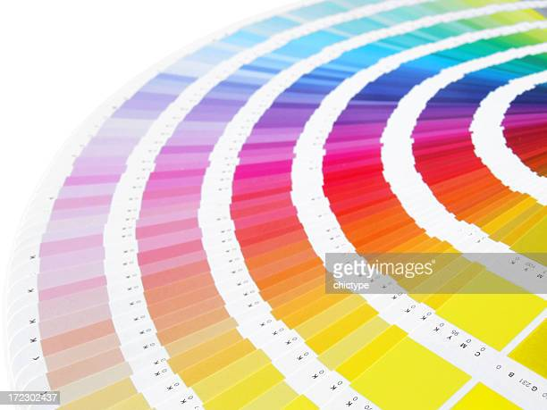 Image of fanned out color charts