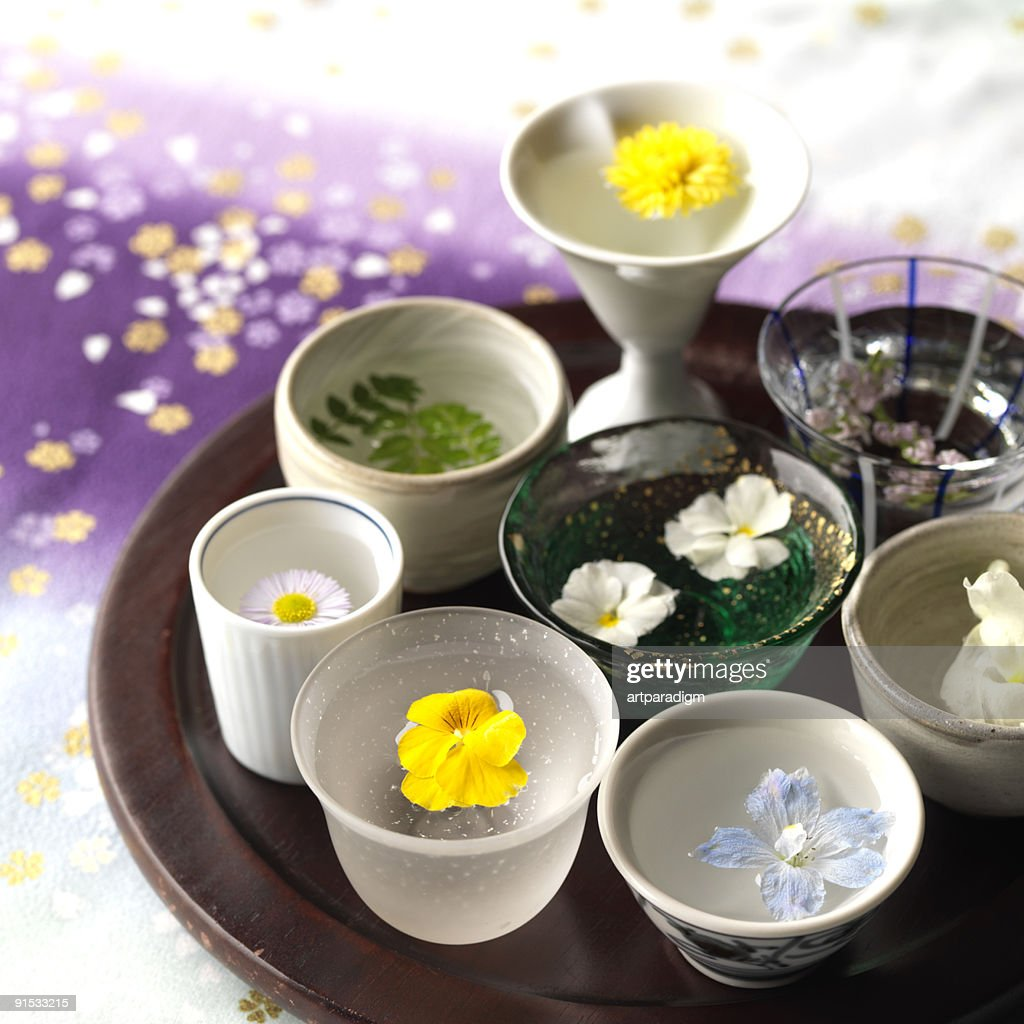 Image of flower dishes : Stock Photo