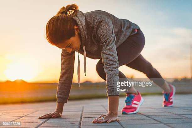 Image of healthy young recreational jogging woman