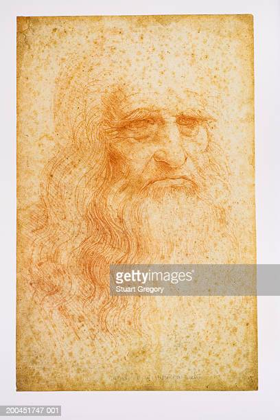 Image of Leonardo da Vinci, close-up
